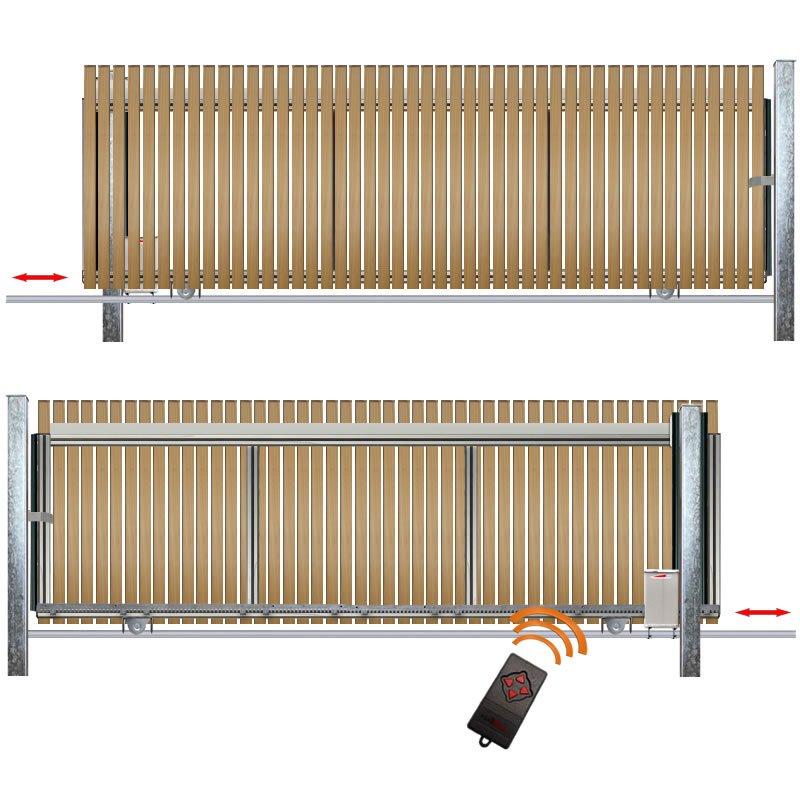 schiebetor hoftor bausatz h 80 b 280 mit e antrieb. Black Bedroom Furniture Sets. Home Design Ideas