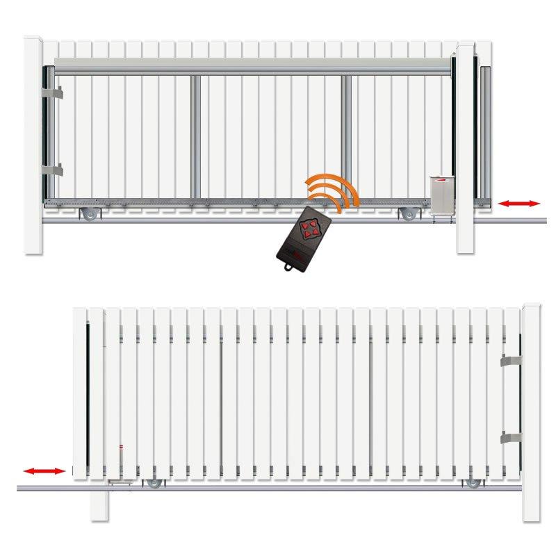 schiebetor hoftor bausatz h 140 b 280 mit e antrieb. Black Bedroom Furniture Sets. Home Design Ideas