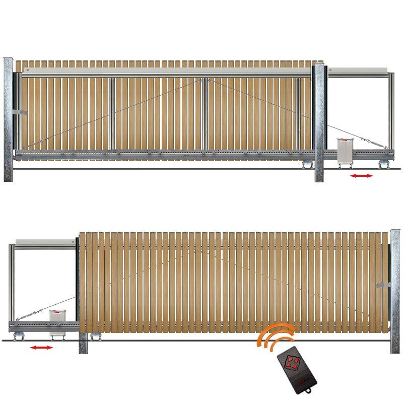 schiebetor hoftor bausatz h 80 b 270 mit e antrieb. Black Bedroom Furniture Sets. Home Design Ideas