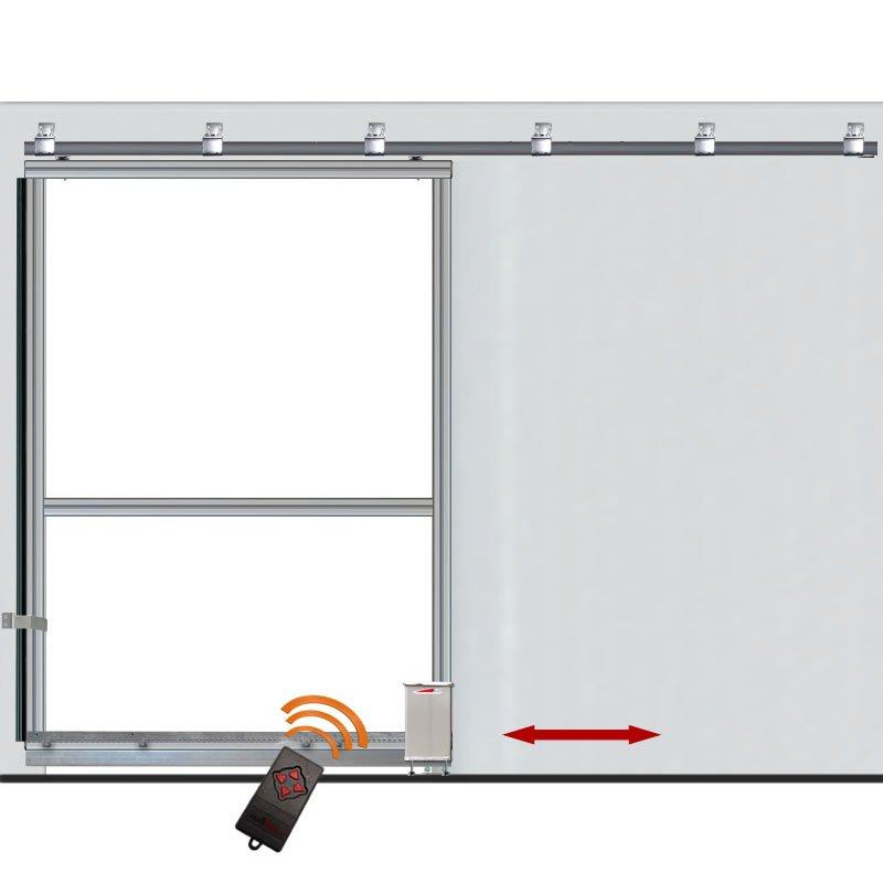 bausatz 1 flg garage schiebetor b 225 h 197 50cm. Black Bedroom Furniture Sets. Home Design Ideas