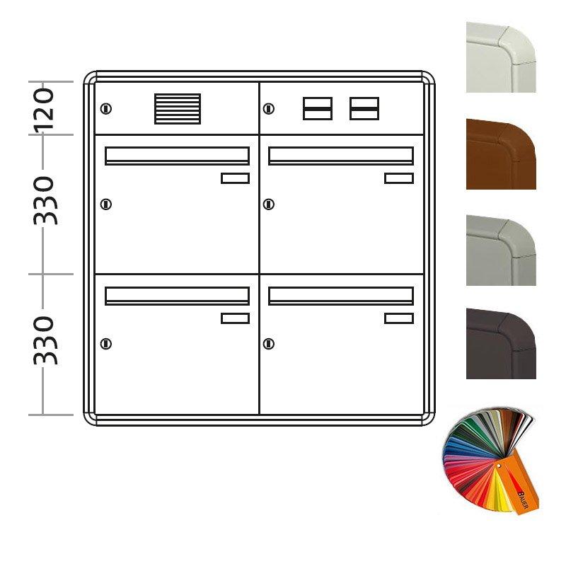 aufputz briefkasten standard big 4 fach. Black Bedroom Furniture Sets. Home Design Ideas