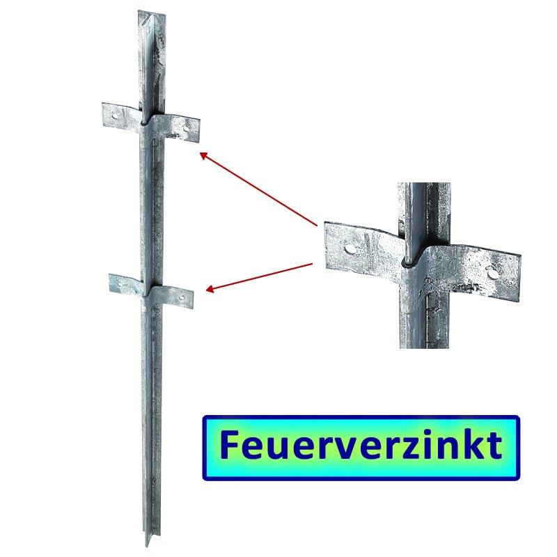 Fvz T Zaunpfosten 1500x40x40x5mm