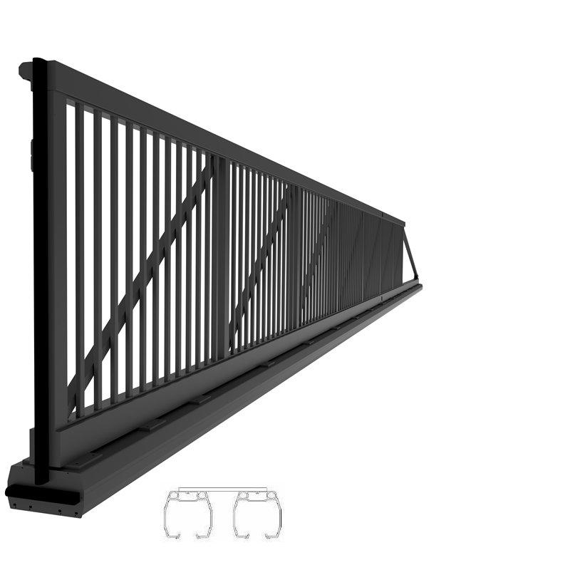 industrie schiebetor mit doppelschiene manuelle bedienun. Black Bedroom Furniture Sets. Home Design Ideas