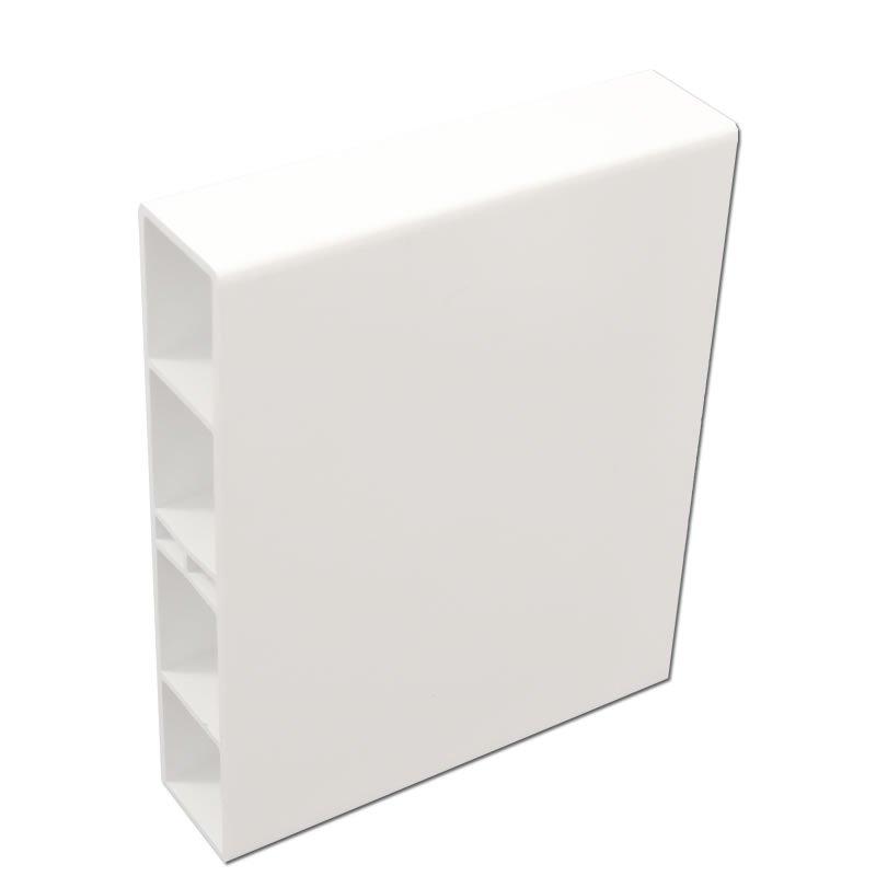 kunststoff balkonprofil 120x25x2mm wei 1m. Black Bedroom Furniture Sets. Home Design Ideas