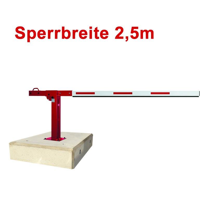 Mobile Schranke Handbetätigt Sperrbreite 2,5m mit Fe