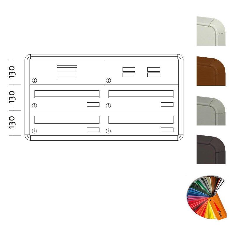 unterputz briefkasten raumsparend big 4 fach. Black Bedroom Furniture Sets. Home Design Ideas