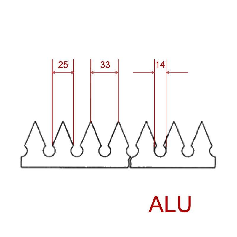 Zackenleiste AZKS, zum Aufschweißen aus Aluminium