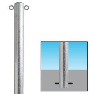 ABSPERRPFOSTEN aus Stahlrohr//ø/60x2,5mm mit 2 /Ösen