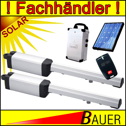 Drehtorantrieb Solar-Set Eli 2-fl/üglig Bauer 102922