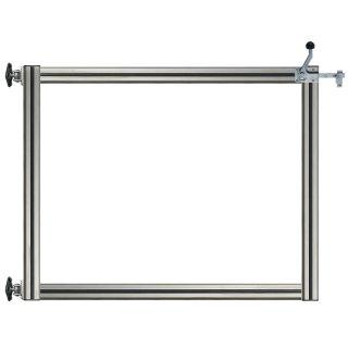 Gehtür Bausatz H=80, B:100, mit Alu-Rahmen