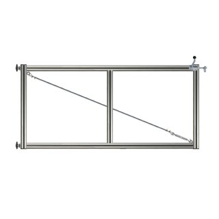 1-flüglig Drehtor Bausatz H=100 B=250 ohne Pfosten