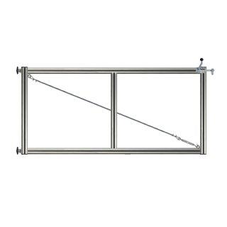 1-flüglig Drehtor Bausatz H=120 B=250 ohne Pfosten