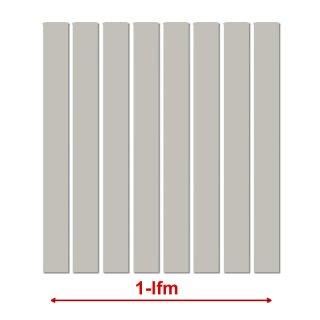 1 lfm Kunstst-Zaunbelag, Länge 0,98m Silbergrau