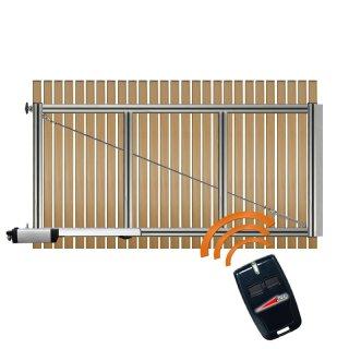 1-flüglig Drehtor Bausatz H=140 B=300 mit Antrieb