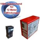(Set7) Einzeldraht 12m, Auswerteeinheit 230V AC