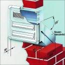 Mauerdurchwurf Briefkasten - 4 Fach