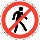 """Aufkleber """"Personendurchgang verboten"""" Rund Ø 20cm"""