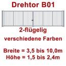 Zweiflügeliges Industrie Stahl-Drehtor B01, ohne Antrieb