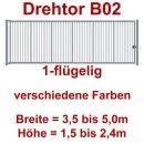 Einflügeliges Industrie Stahl-Drehtor B02, ohne Antrieb