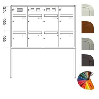 Briefkasten Freistehend Standard - 9 Fach