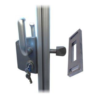 Torrahmenschloss für Torrahmen-Bausatz 50mm mit Gegenplatte (Schiebetor)