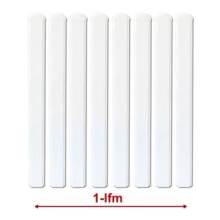 1 lfm Kunstst-Zaunbelag Softline weiss Länge 0,65m