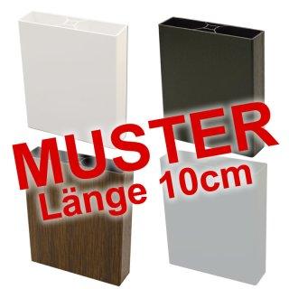 Musterset - Kunststoff-Zaun Lattenprofil Standard