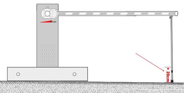 Pendelstütze (+20cm) für mobile Schranke Indust