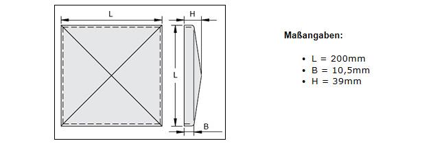 rohAbdeckkappe Abdeckung Pfosten Pfostendeckel mit Flansch 200 x 200mm